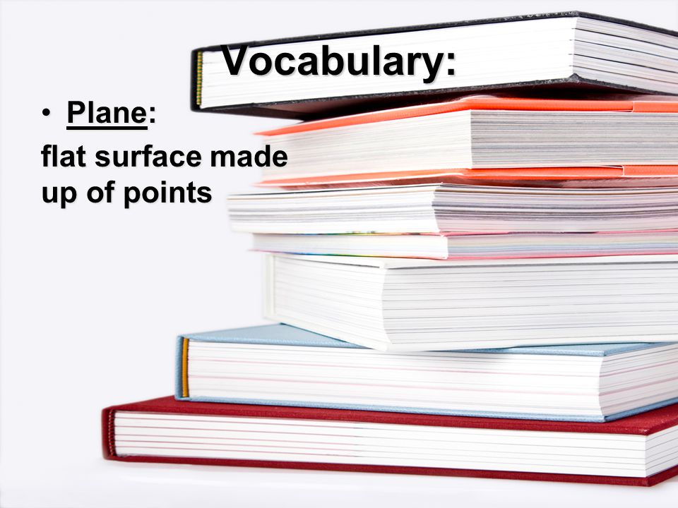 Vocabulary: flat surface made up of points