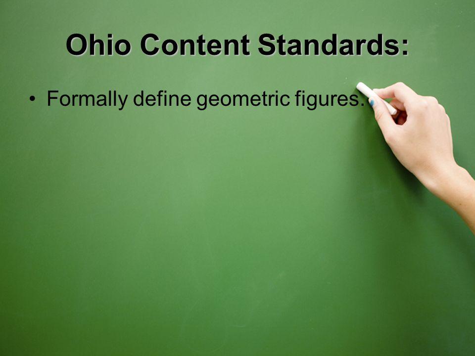 Formally define geometric figures.
