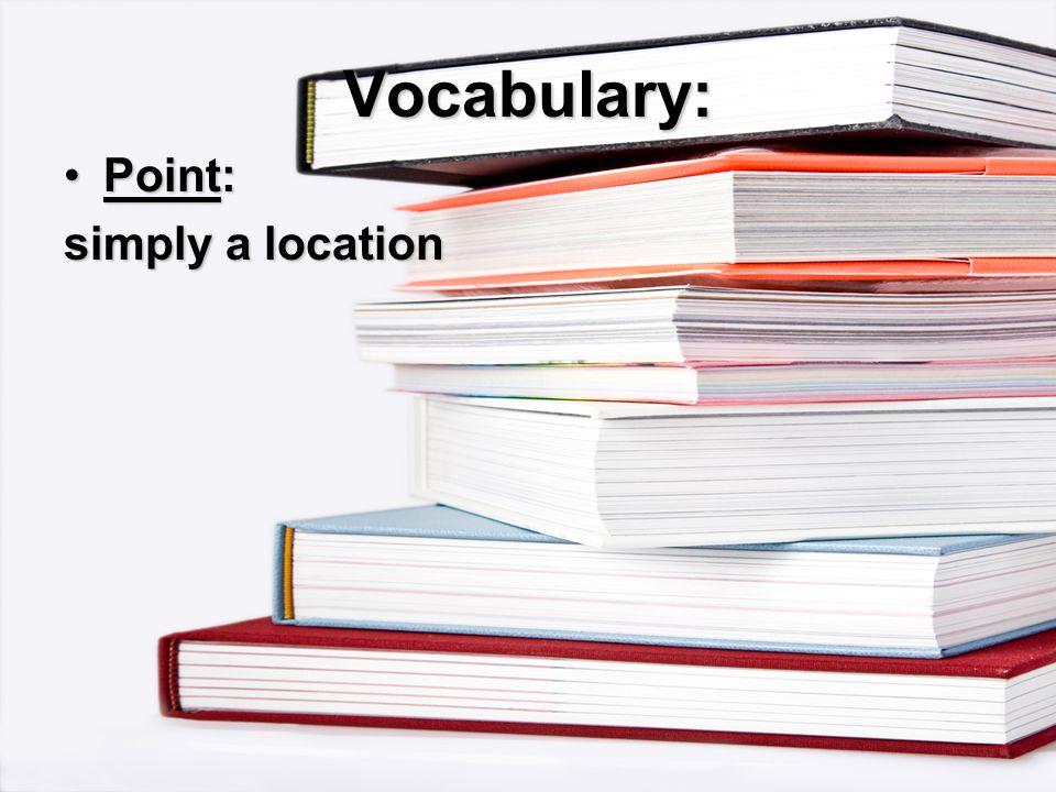 Vocabulary: simply a location