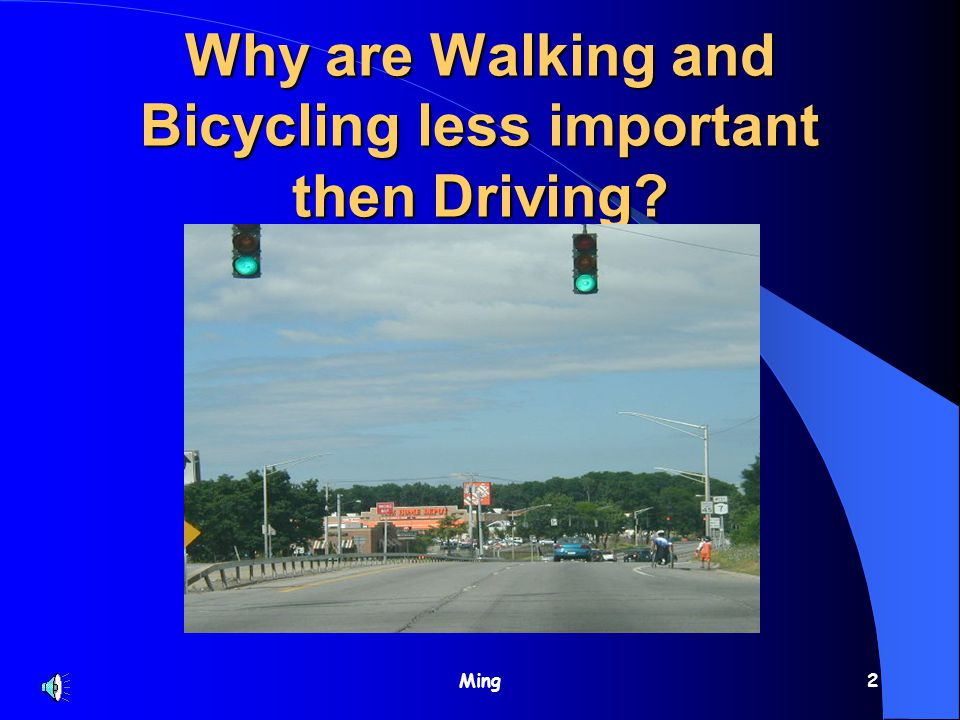 Ming2 Why are Walking and Bicycling less important then Driving?