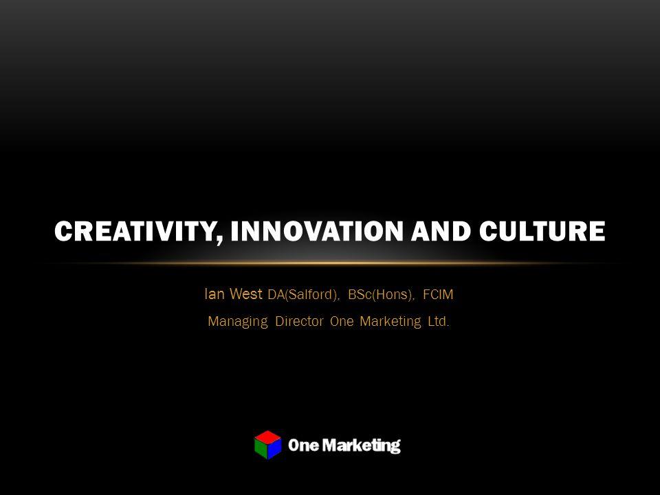 Ian West DA(Salford), BSc(Hons), FCIM Managing Director One Marketing Ltd.