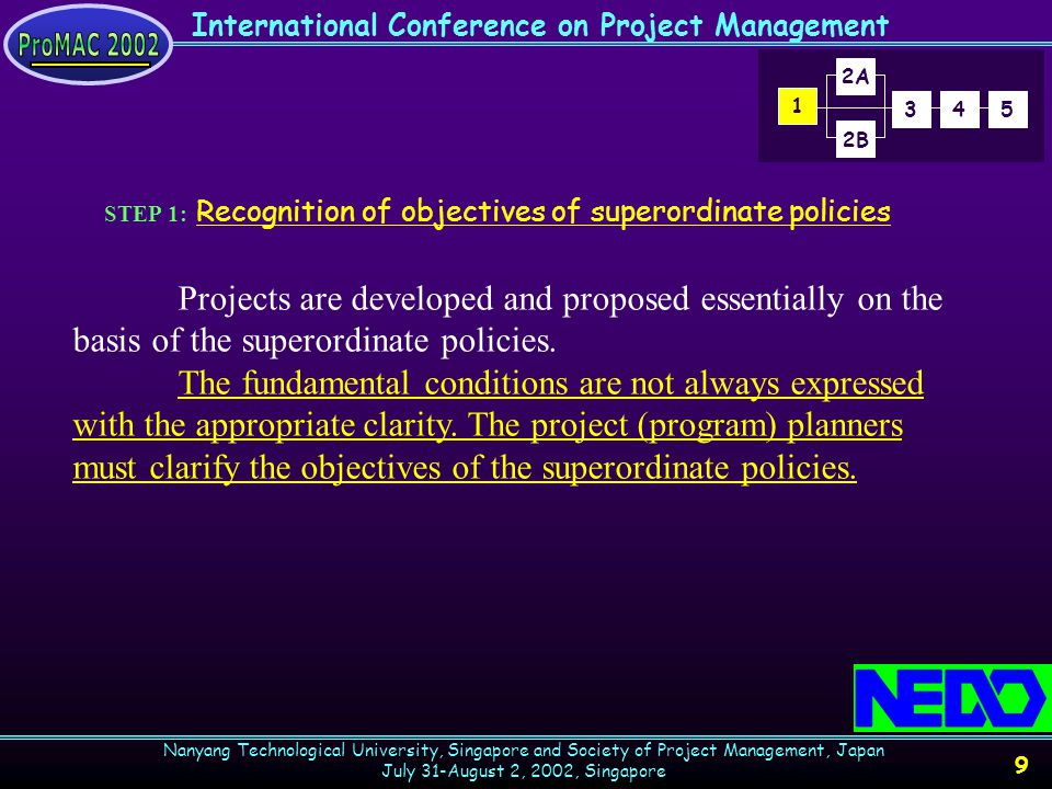 International Conference on Project Management Nanyang Technological University, Singapore and Society of Project Management, Japan July 31-August 2, 2002, Singapore 20 The R&Ds in this category are generally not particular to any specific industries.