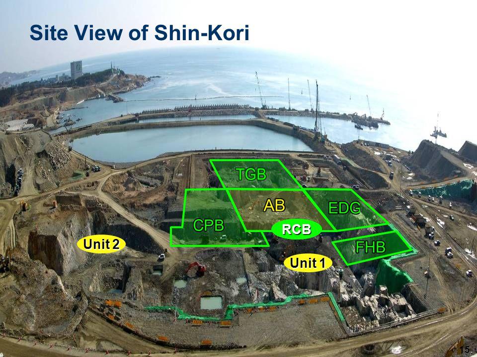 15 Site View of Shin-Kori RCB Unit 2 Unit 1