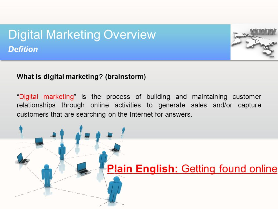 What is digital marketing.