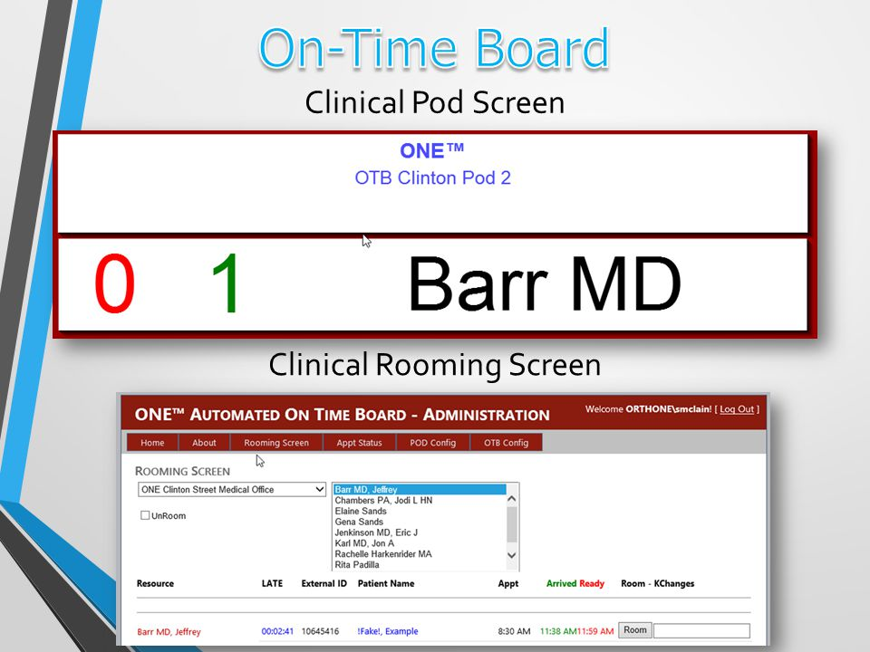 Clinical Pod Screen Clinical Rooming Screen