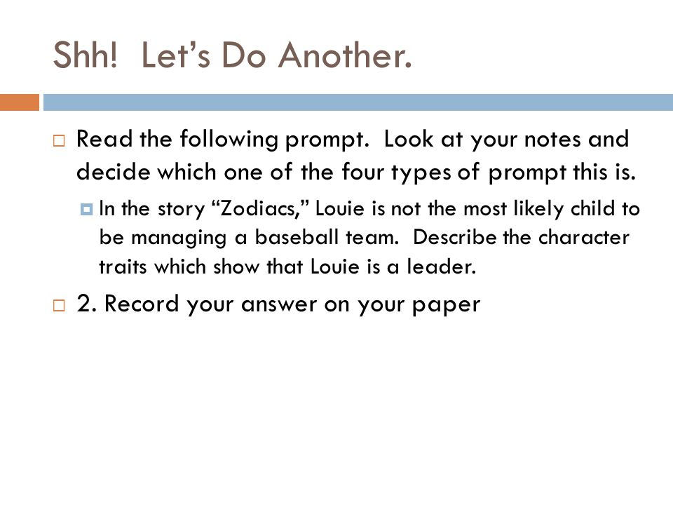 Third time's the charm. Read the following prompt.