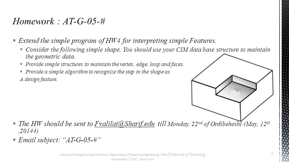  Extend the simple program of HW4 for interpreting simple Features.