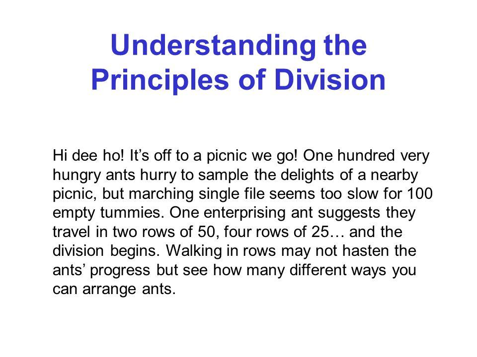 Understanding the Principles of Division Hi dee ho.