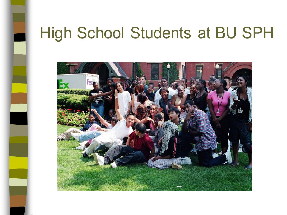 High School Students at BU SPH