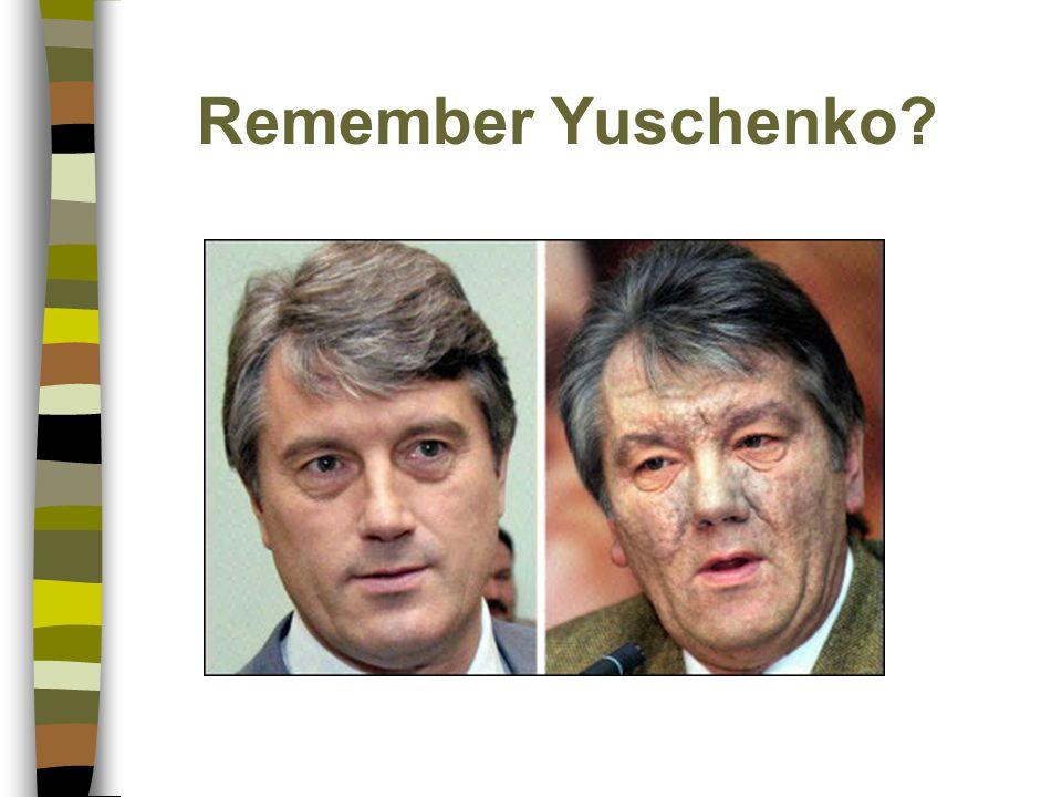 Remember Yuschenko?