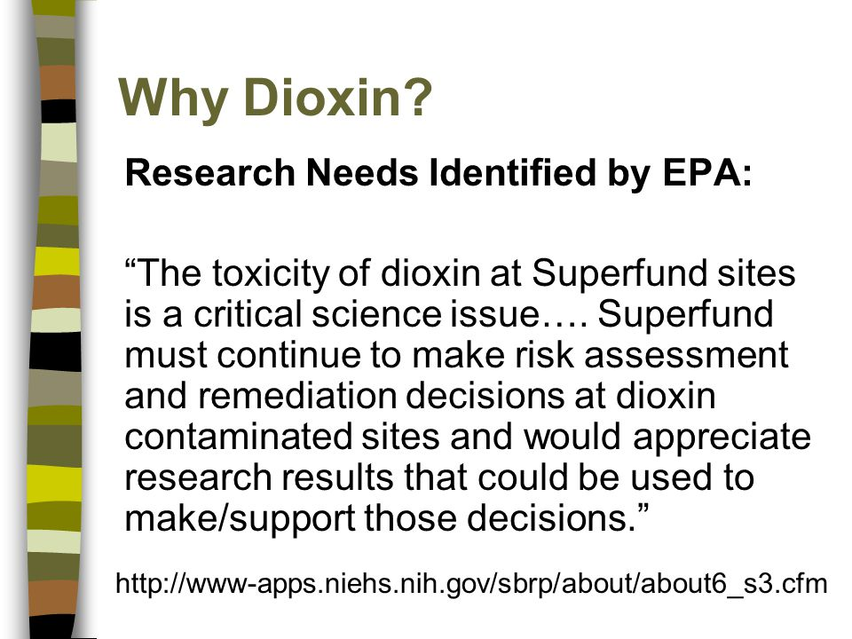 Why Dioxin.