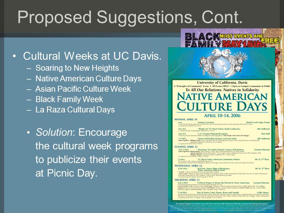 Cultural Weeks at UC Davis.