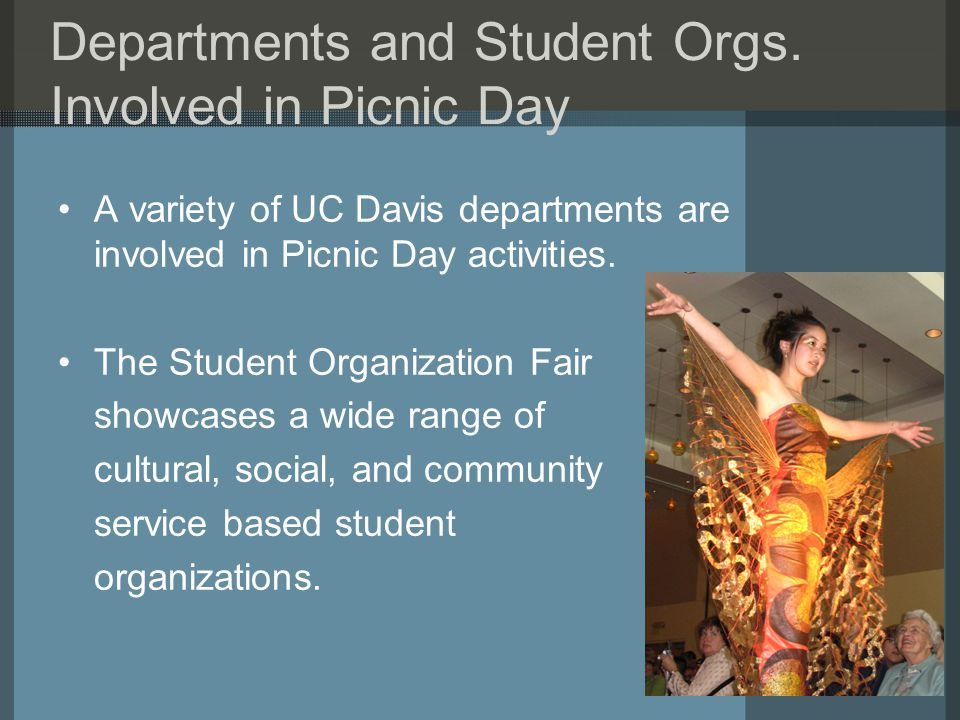 Departments and Student Orgs.