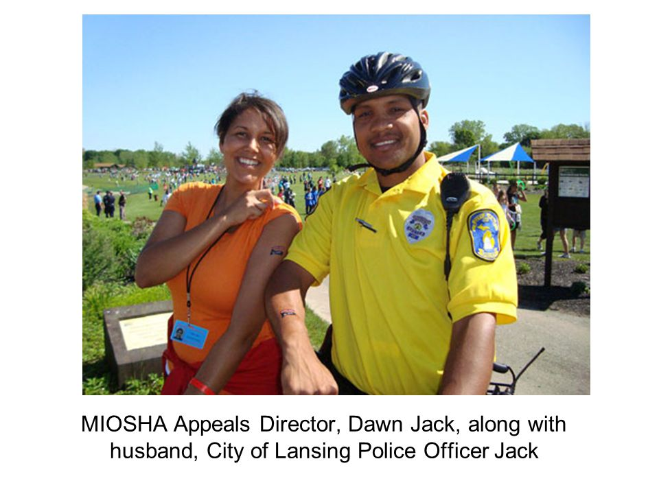 MIOSHA Appeals Director, Dawn Jack, along with husband, City of Lansing Police Officer Jack