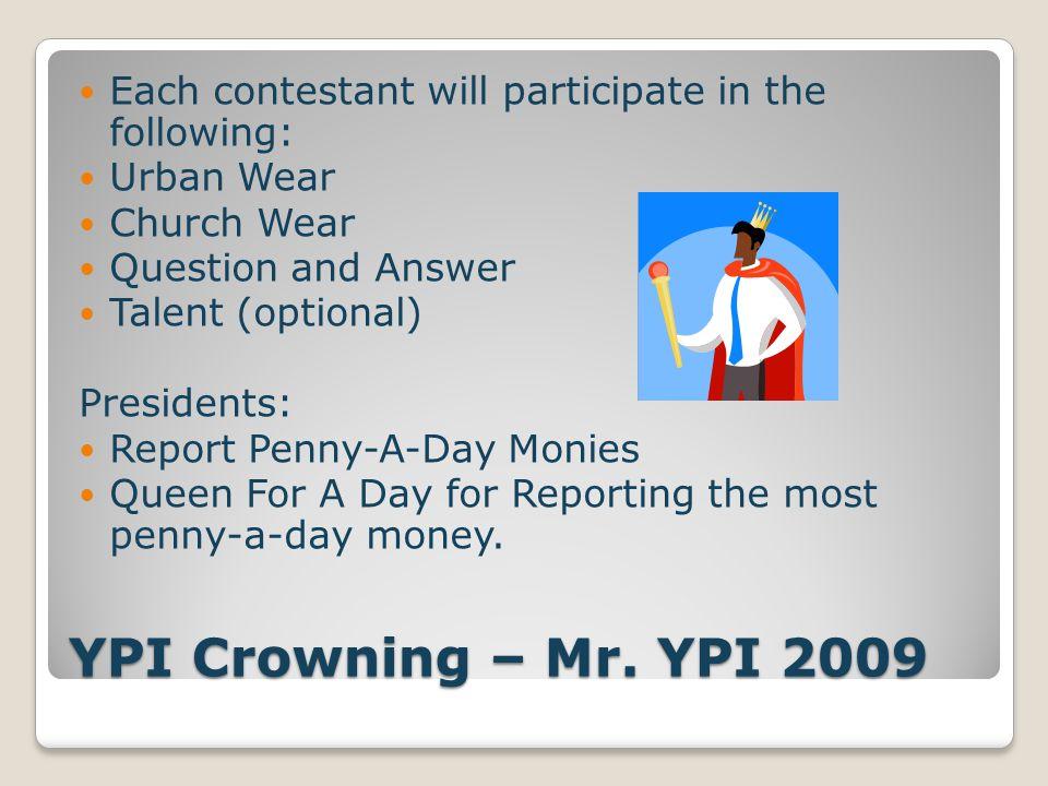 YPI Crowning – Mr.