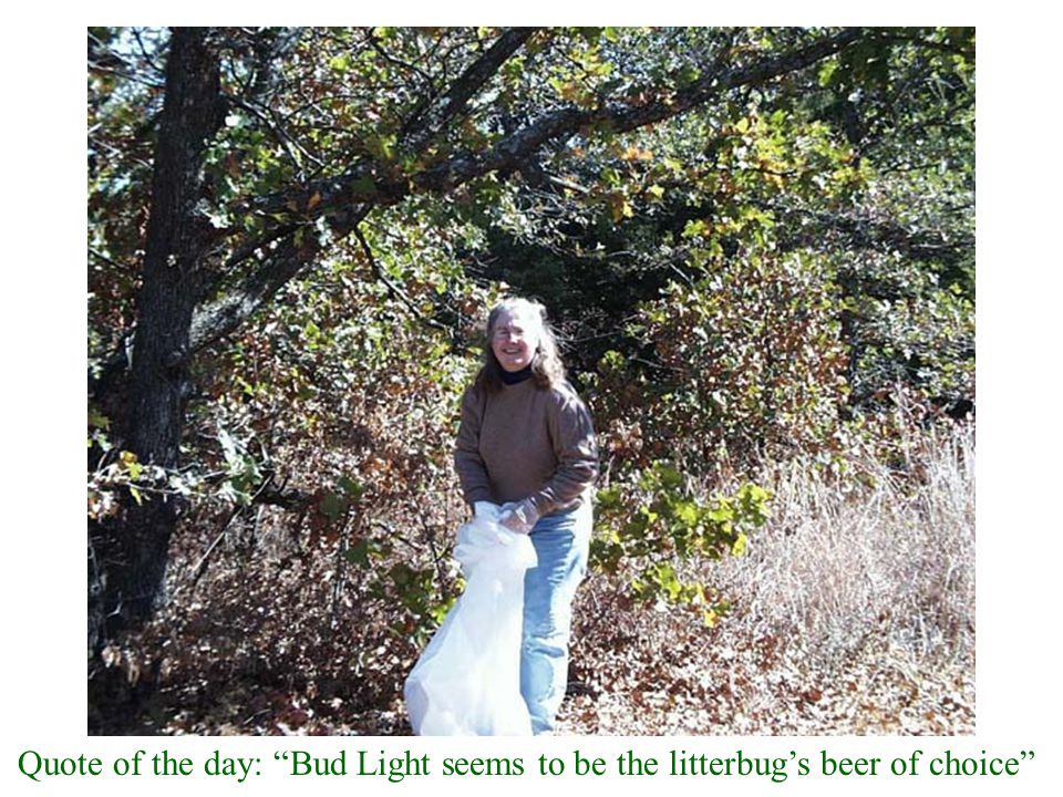 """Quote of the day: """"Bud Light seems to be the litterbug's beer of choice"""""""