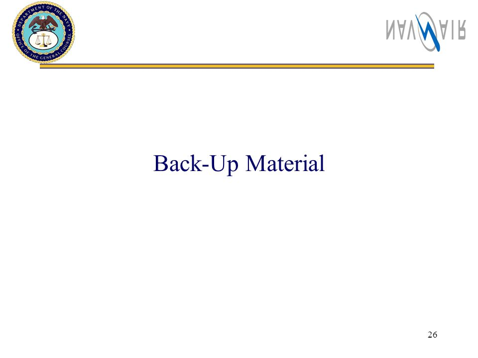 26 Back-Up Material