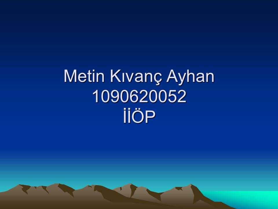 Metin Kıvanç Ayhan 1090620052 İİÖP