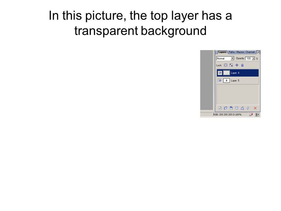 In this picture, the top layer has a transparent background