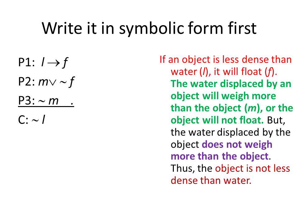 Now to Prove.1. l  f Premise 2. m   fPremise 3.