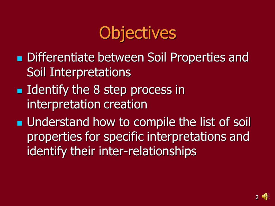 1 TSS PERSPECTIVE Module 2 –Section 1 Developing interpretation criteria TSS PERSPECTIVE Module 2 –Section 1 Developing interpretation criteria NASIS SOIL SURVEY INTERPRETATIONS