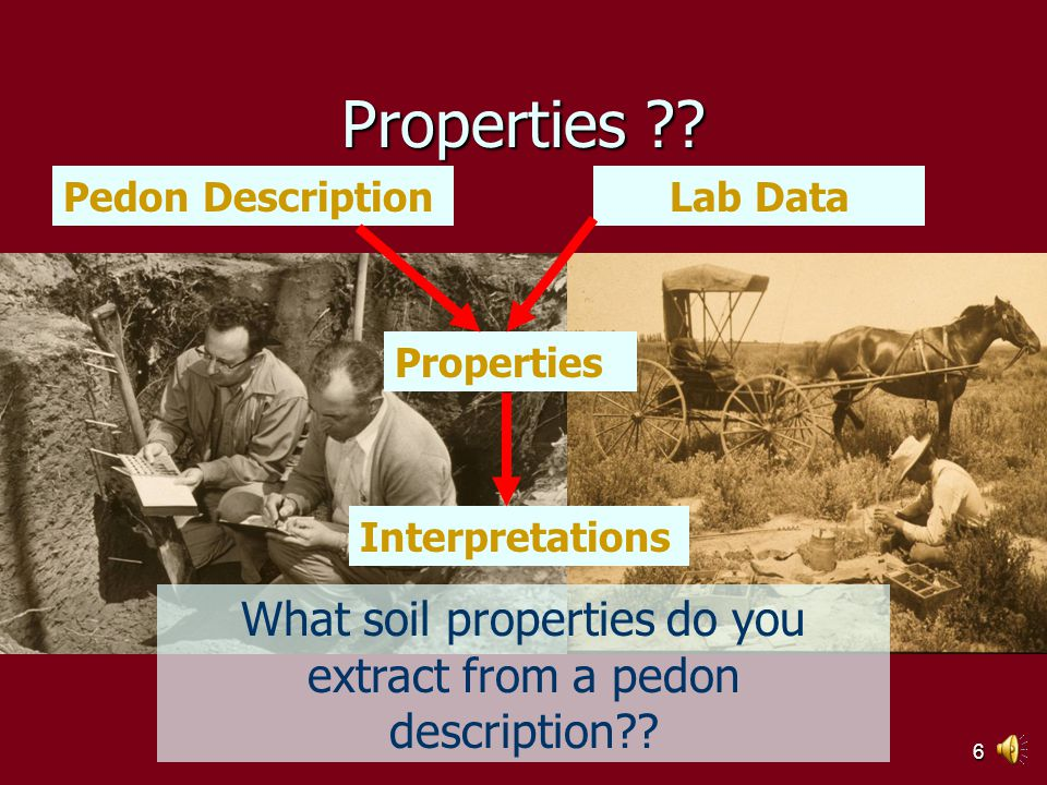 5 Interpretations NSSH 617.00 (a ) Definition Soil survey interpretations predict soil behavior for specified soil uses and under specified soil management practices.