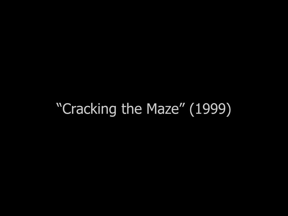"""Cracking the Maze"" (1999)"
