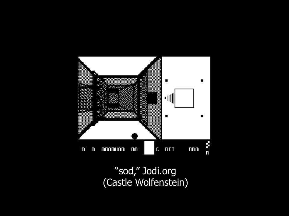sod, Jodi.org (Castle Wolfenstein)