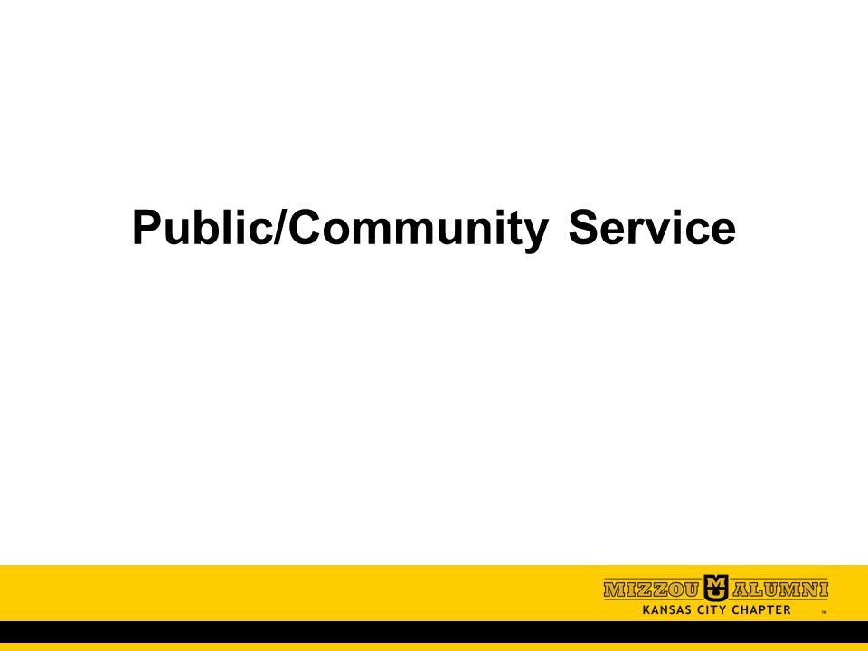 Public/Community Service