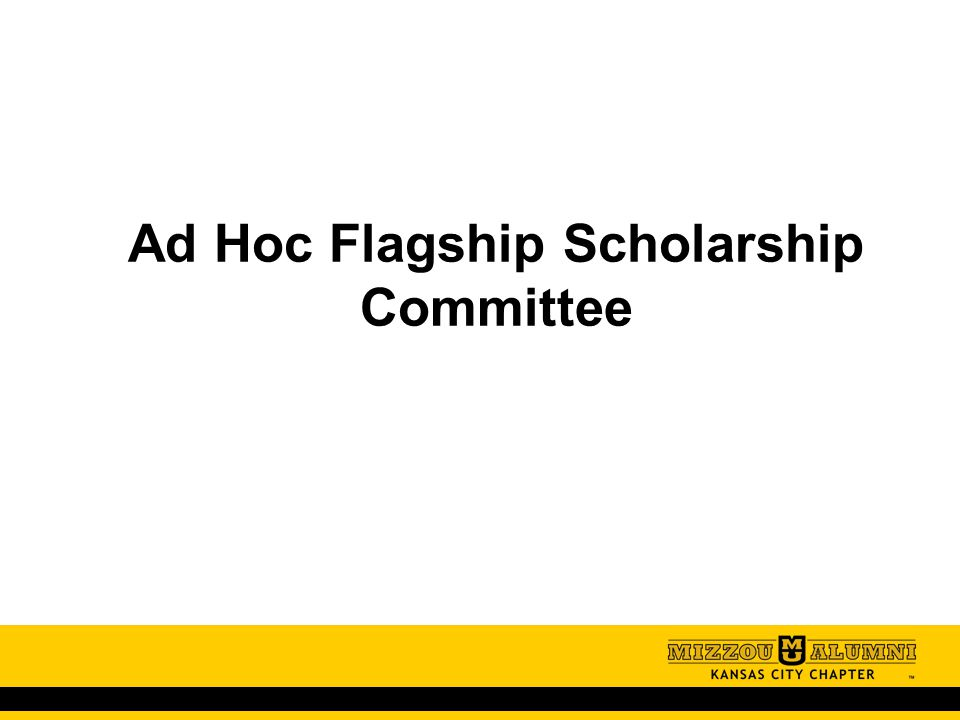 Ad Hoc Flagship Scholarship Committee