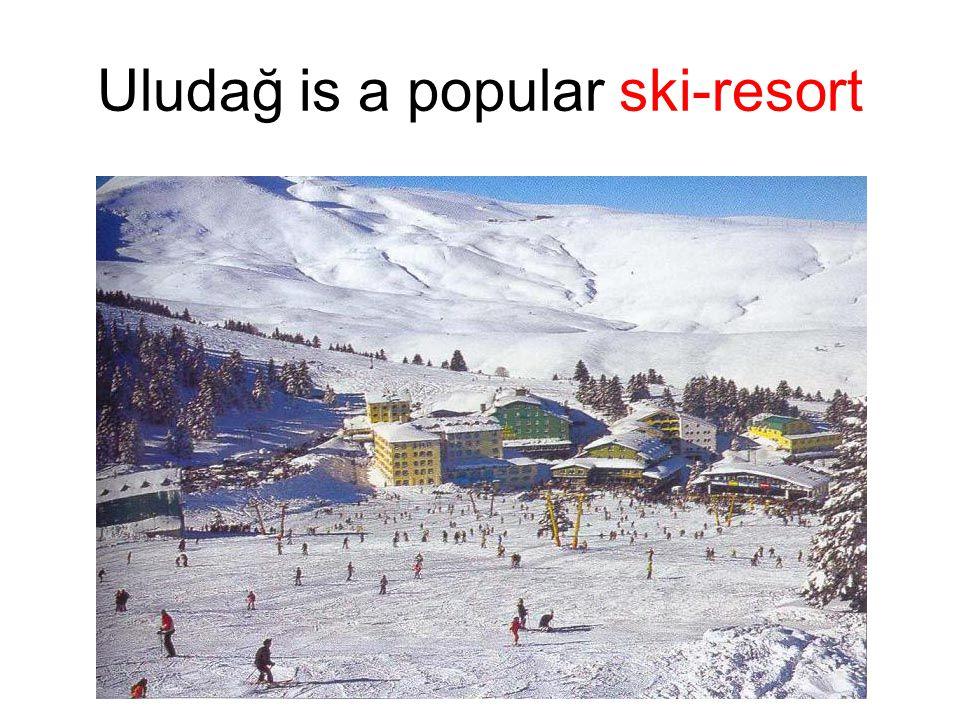 Uludağ is a popular ski-resort