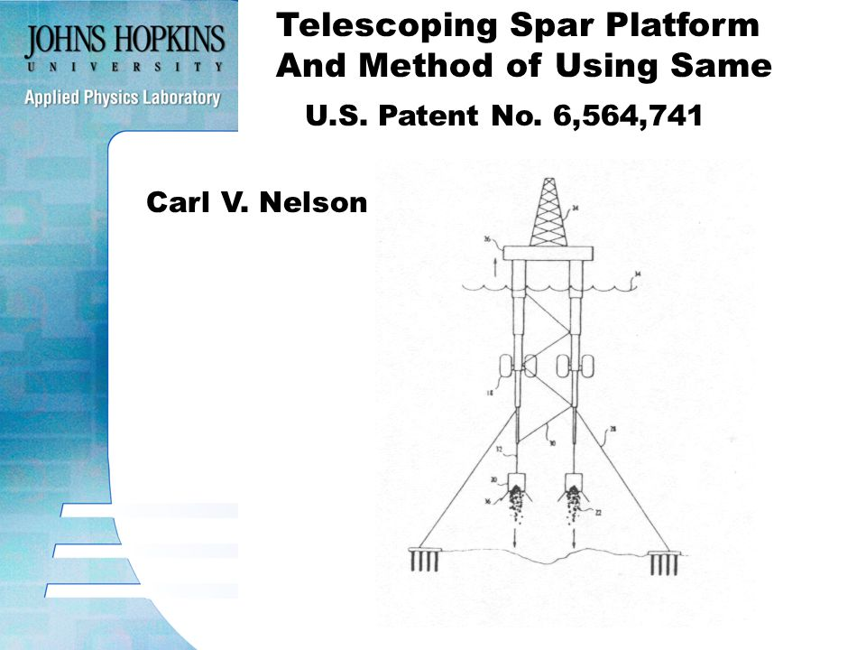 Telescoping Spar Platform And Method of Using Same U.S. Patent No. 6,564,741 Carl V. Nelson