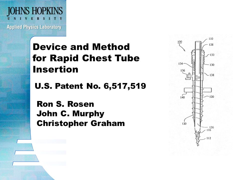 Device and Method for Rapid Chest Tube Insertion U.S.