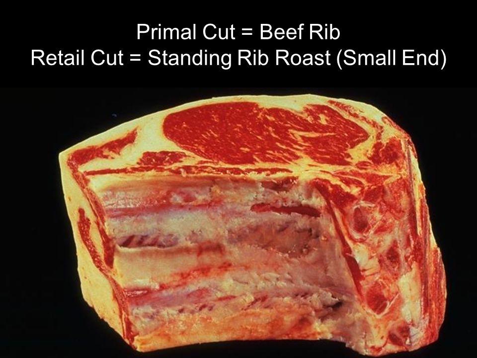 Primal Cut = Beef Rib Retail Cut = Standing Rib Roast (Small End)