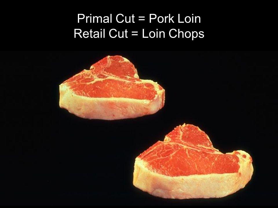 Primal Cut = Pork Loin Retail Cut = Loin Chops