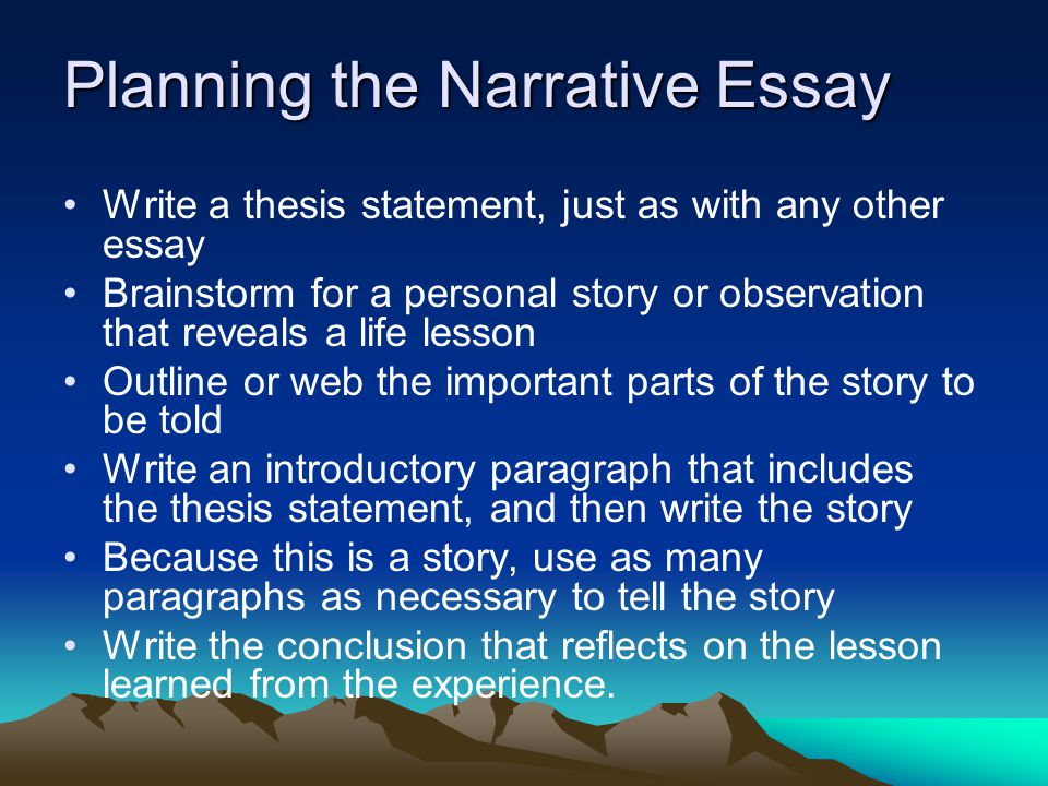 good thesis statement for descriptive essay Creating a thesis statement a good thesis statement describes for the reader what your the narrative essay associated with this thesis statement would give.