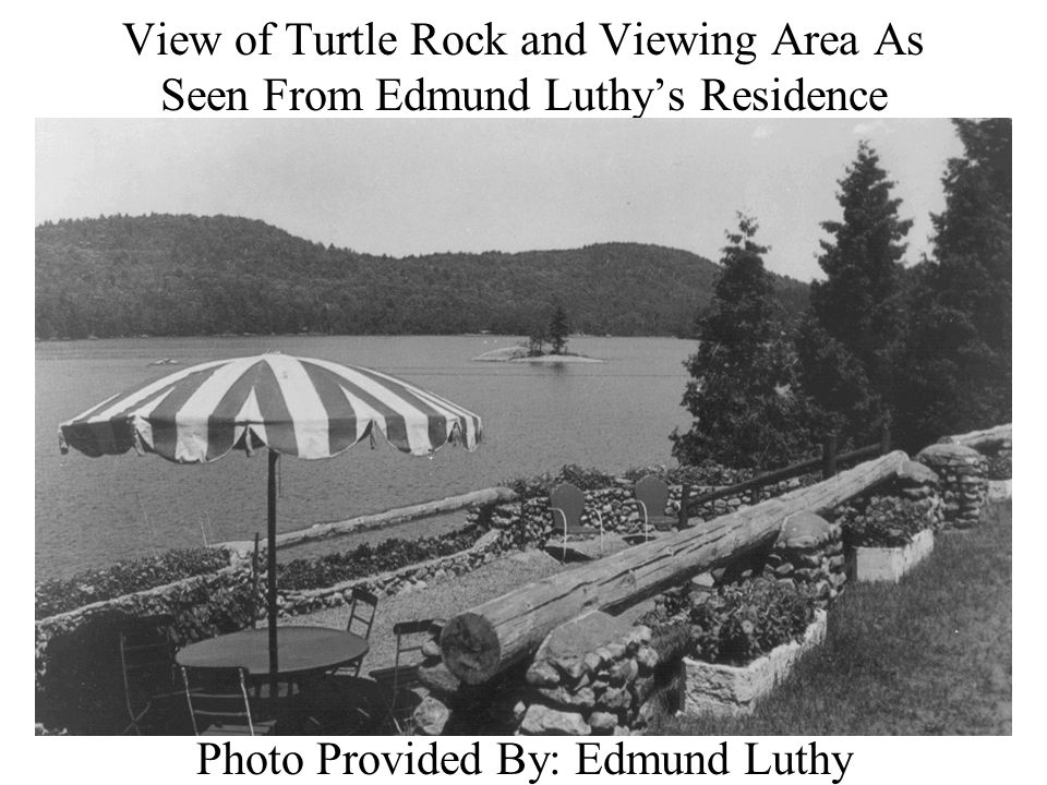 View of Turtle Rock and Viewing Area As Seen From Edmund Luthy's Residence Photo Provided By: Edmund Luthy