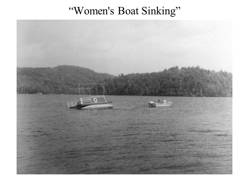 Women s Boat Sinking