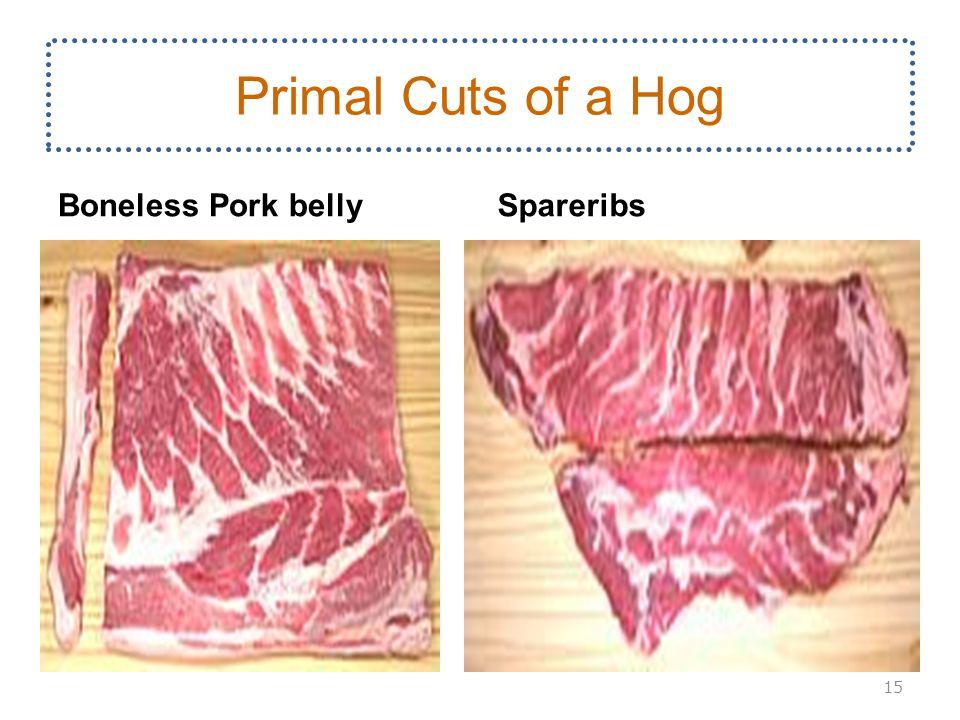 Boneless Pork bellySpareribs 15