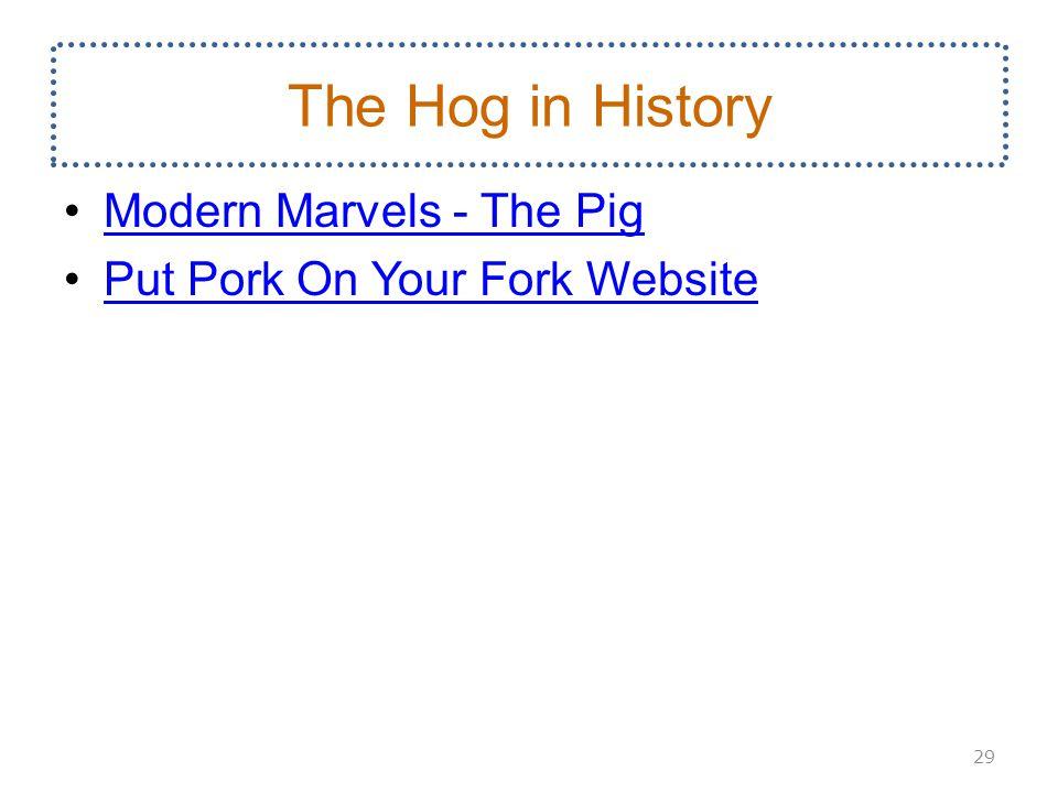 The Hog in History Modern Marvels - The Pig Put Pork On Your Fork Website 29