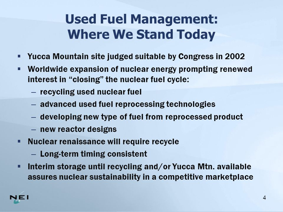5  Consolidates 39 sites into 1 or 2, allows for easier management and security, lower costs  Interim storage supports new nuclear plant construction, which is in the best interest of the US needs for electricity and reduction of greenhouse gases  Interim storage also permits utilities to complete their obligation to local communities by fully decommissioning reactor sites at the end of their operating lifetime Why Interim Storage of Used Nuclear Fuel?