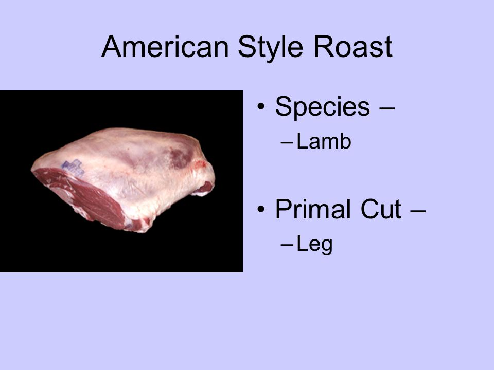 Small End Roast