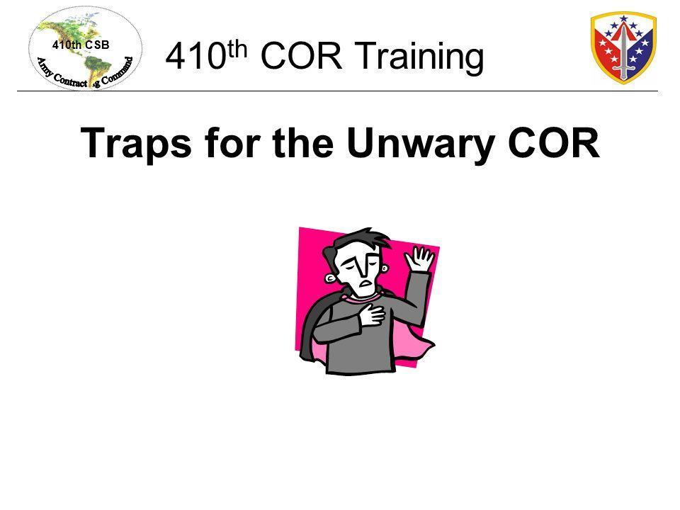 410th CSB Procurement Integrity Act, 41 USC §423 410 th COR Training