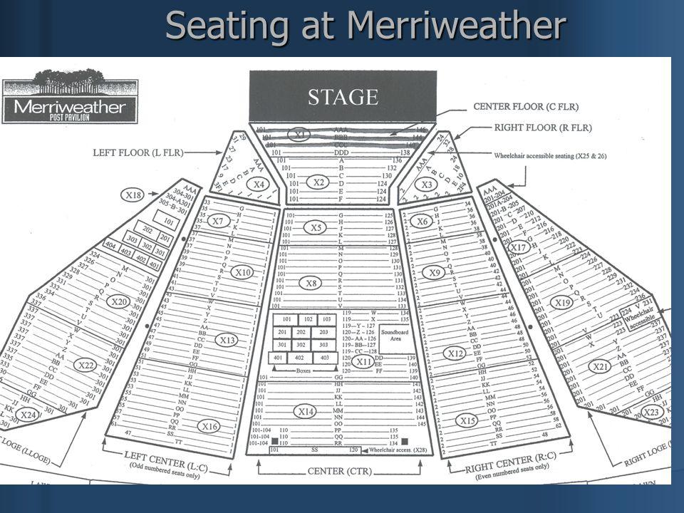 Seating at Merriweather