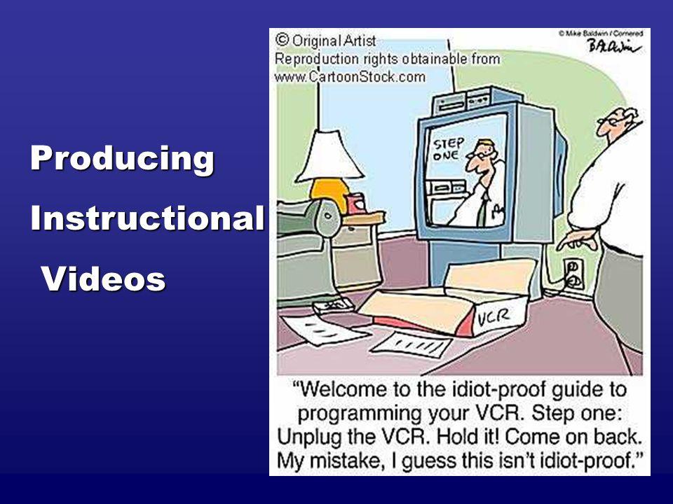 ProducingInstructional Videos Videos