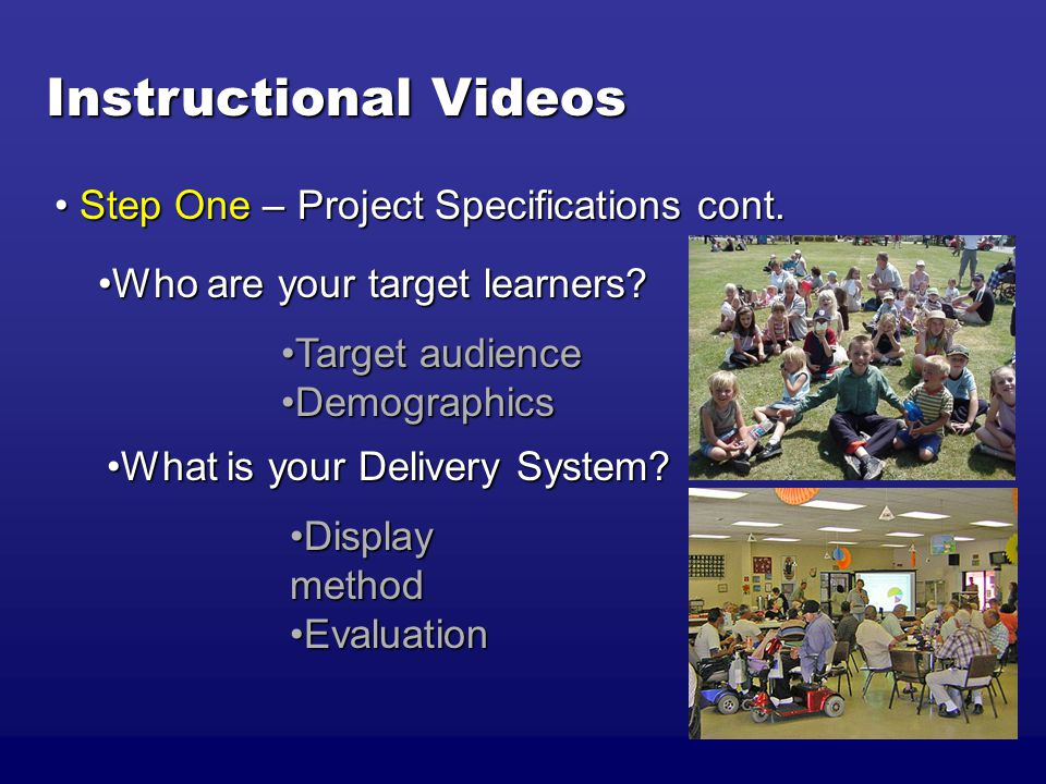 Instructional Videos What is your Delivery System What is your Delivery System.