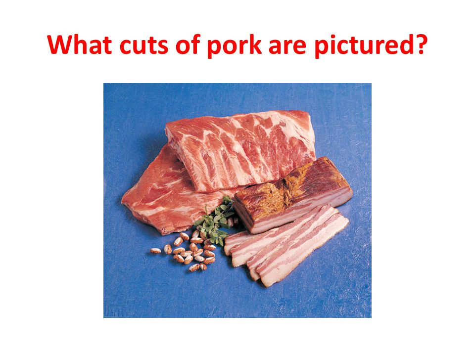 What cuts of pork are pictured?