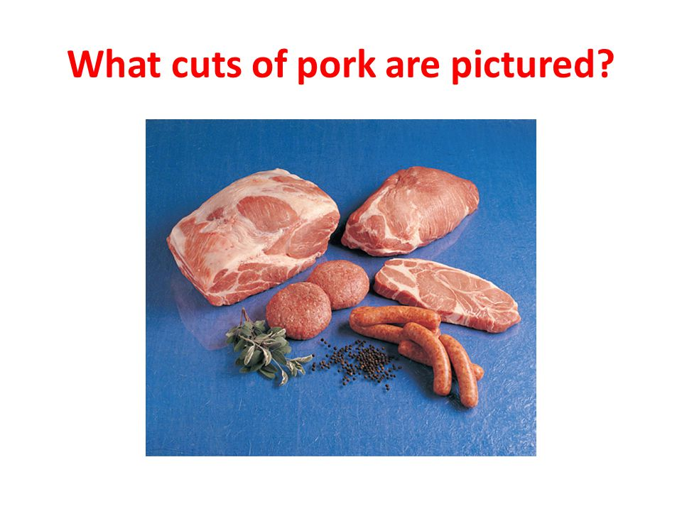 What cuts of pork are pictured