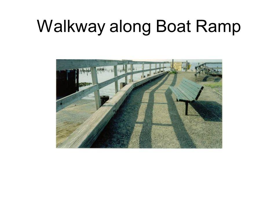 Walkway along Boat Ramp
