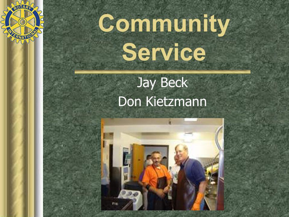 Community Service Jay Beck Don Kietzmann